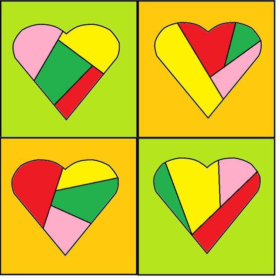 Kunstwerkje voor moederdag verf de buitenkant met ecoline de binnenkant van het hart kleur je - Verf kleur keuzes voor zitplaatsen ...