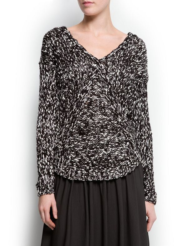 MANGO - Flecked chunky kit sweater
