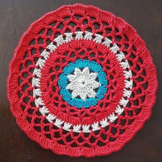 Buy It Here: Patriotic Mandala by SassyCandidCrochet on Etsy