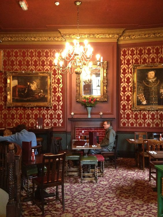 Pub decor wallpapers and london on pinterest - Decorating wallpapers for interior ...