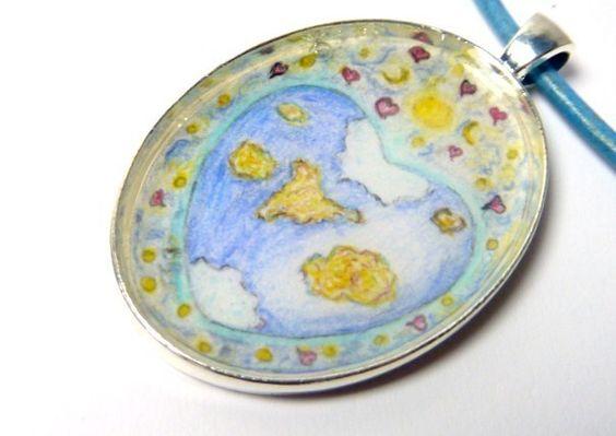 Kette, Miniaturbild, °Lieber Planet Erde°,Anhänger