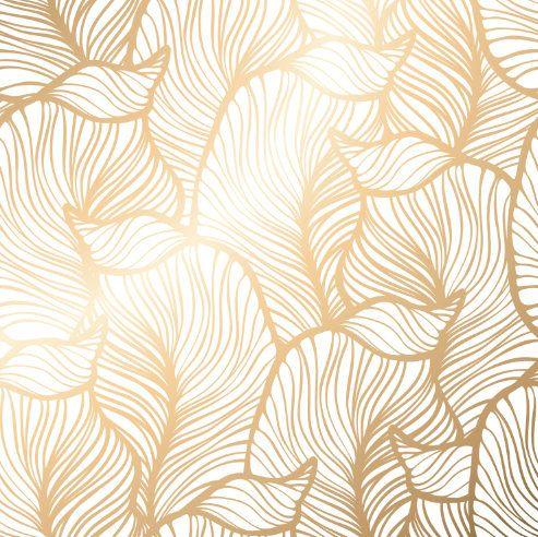 Removable Wallpaper Golden Leaves Wallpaper Self Adhesive Etsy Royal Wallpaper Golden Wallpaper Leaf Background