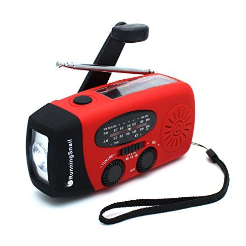 Emergency Solar Hand Crank Portable Radio NOAA Weather AM//FM//WB Torch Power Bank