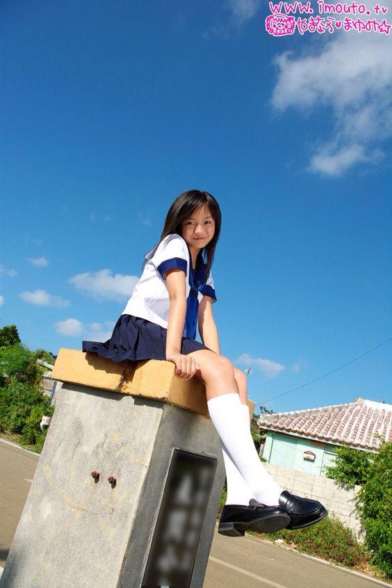 Blue Sky.School Girl