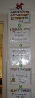 Kindergarten Common Core Standards for posting from Mrs. Jump's TPT story