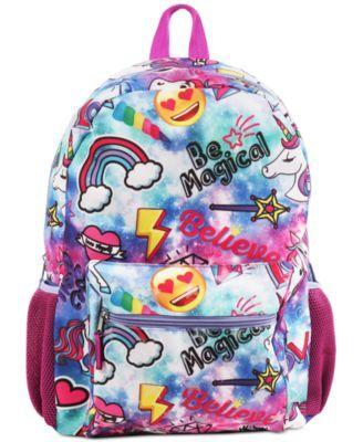 Fab Little & Big Girls Unicorn Galaxy-Print Backpack & Headphones - Assorted