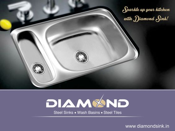 Your #Kitchen is incomplete with #DiamondSink. Get one today! Explore the complete range @ www.diamondsink.in #SteelSink #SteelKitchenSink #Sink #Kitchen #KitchenSinks