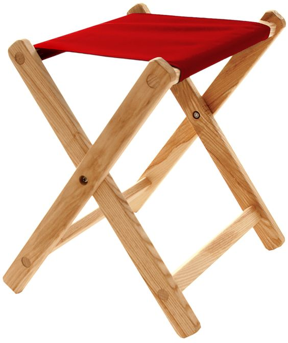 Folding Stool - Red
