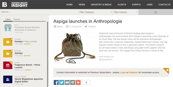 Aspiga On ZeroMagazineCoUk   Aspiga Coverage