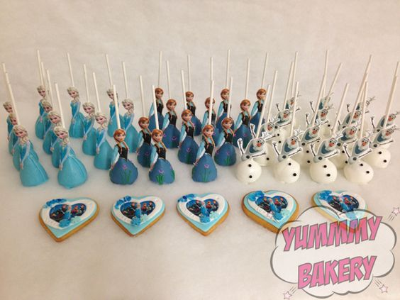 Frozen cake pops cookies | Frozen party | Pinterest | Frozen Cake Pops ...