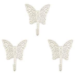 Butterfly Wall Hooks Set of 3 , White - Pillowfort™