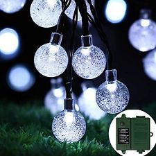 [Battery Included]Rechargeable Battery Operated String Lights With Timer 8 30