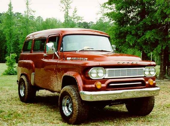 dodge power wagon panel truck. I just love this old truck.