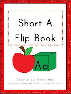 FREE!  Fun Short A activity flip book.  Just copy, fold, and staple.