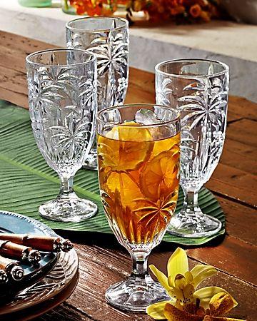 Tommy Bahama - Palm Tree Glasses - Set of Four