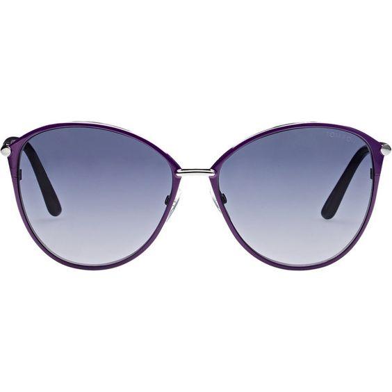 Tom Ford Penelope Sunglasses ($405) ❤ liked on Polyvore featuring accessories, eyewear, sunglasses, colorless, over sized sunglasses, clear sunglasses, oversized cat eye glasses, oversized sunglasses and cateye sunglasses