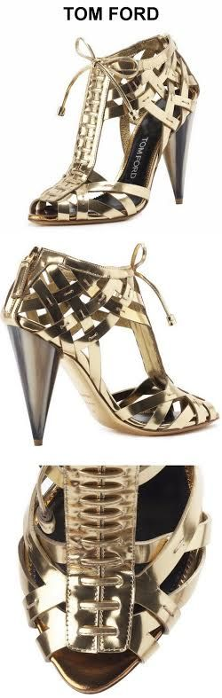 ~Tom Ford woven metallic sandal | House of Beccaria