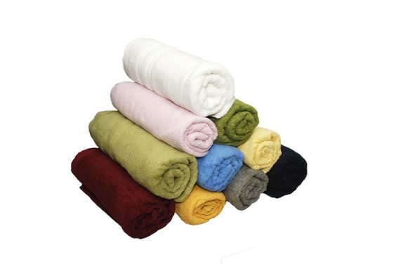 These towels are made from 100% Cotton and come in assorted colours and borders    Visit us www.premiumtowelexportindia.com