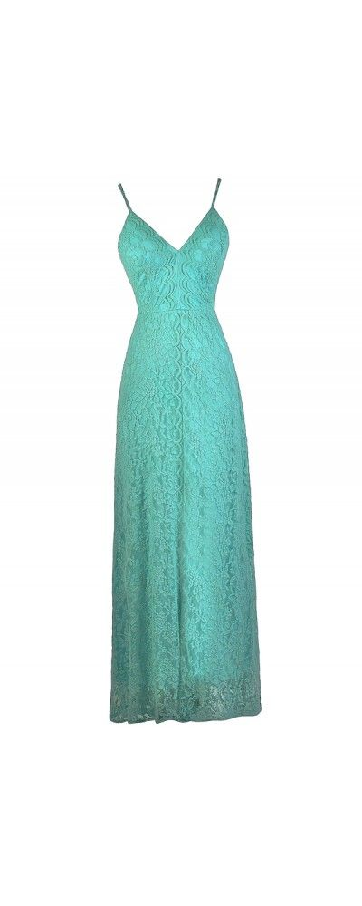 Lily Boutique Whole Lotta Lace Maxi Dress in Jade, $62 Jade Green Lace Maxi Dress, Cute Lace Maxi Dress, Teal Maxi Dress www.lilyboutique.com