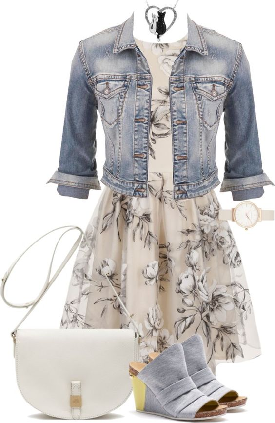 32 Polyvore Casual Dress Outfits for Spring and Summer - Be Modish - Be Modish: