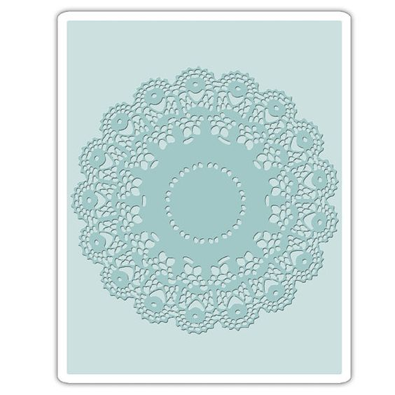 Newly Listed~Sizzix Tim Holtz Alterations Collection Texture Fade Embossing Folder A2-Large Doily  Find your Reneabouquets Items here: http://www.Reneabouquets.com https://www.etsy.com/shop/Reneabouquets