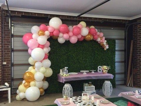 Organic half arch. www.balloons.net.au