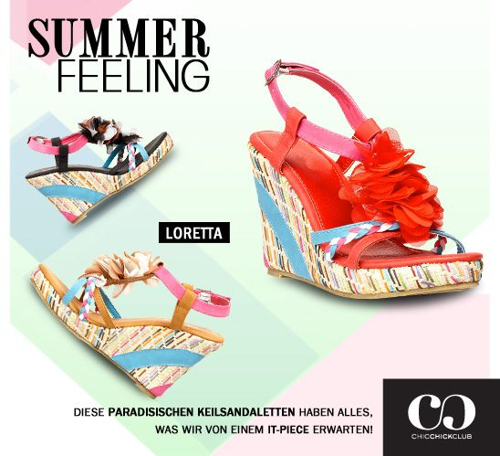 Summer Dreamin' - never been so easy! Mit dieser stylischen Keilsandalette bist du dem Sommer ganz nah! Bezaubernd, oder?