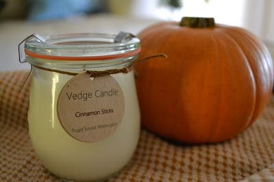 """The Vedge Candle company is based out of  Washington State on the shores of the Puget Sound. Inspired by the natural beauty of this area their candles are eco-conscious and the lovely jars can be re-purposed long after the candle has been enjoyed. Vedge Candle you had me at """"hello."""" More about Vedge Candle:"""