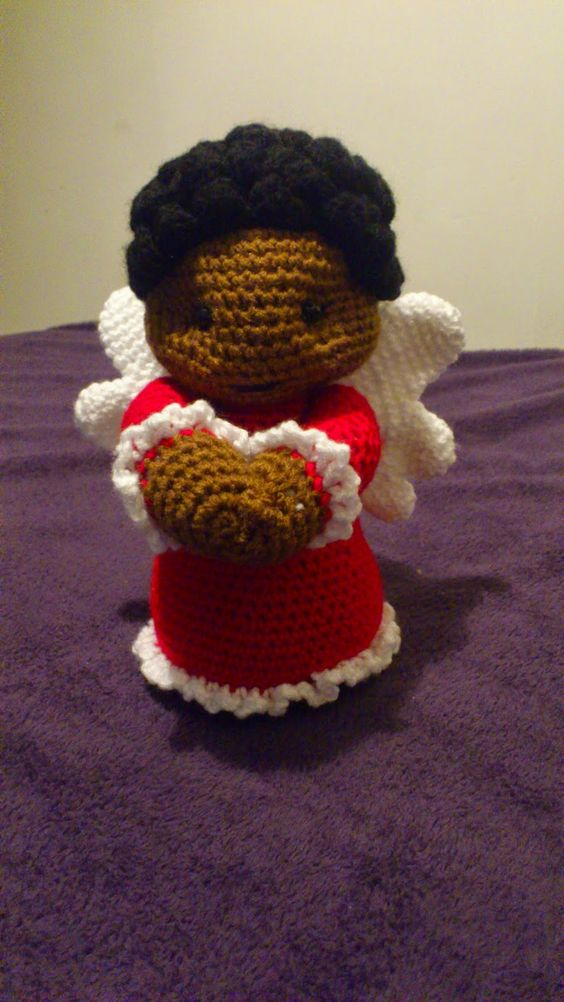 Angel Amigurumi Tutorial : Amigurumi Black Angel - FREE Crochet Pattern / Tutorial ...