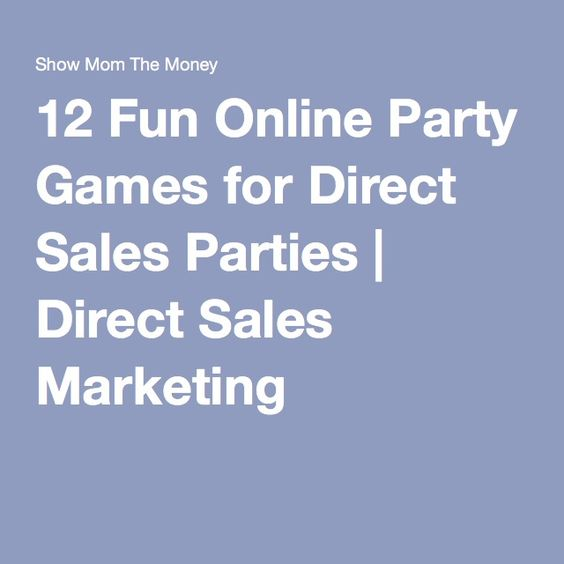 12 Fun Online Party Games for Direct Sales Parties | Direct Sales Marketing