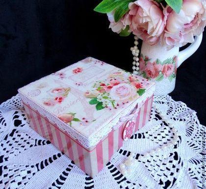 Caixas artesanais.  De Paris Caixa para a jóia, pequenas coisas vintage.  Olya Polyakova.  Loja de Mestres Fair on-line.  Vindima