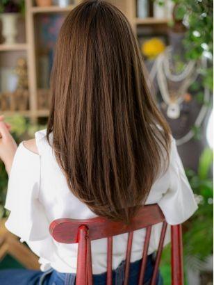 とろみワンカールストレート 髪型セミロング 髪型 ストレート 髪型