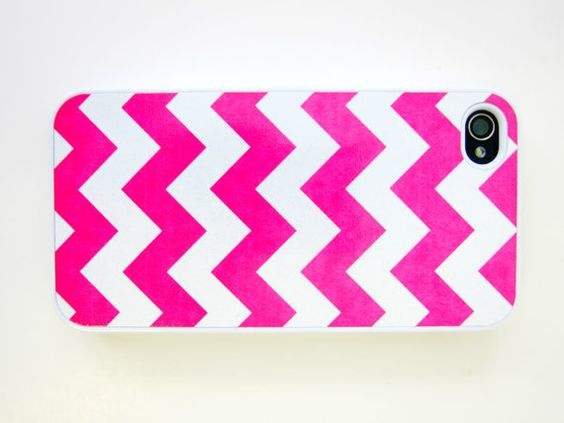 Hot Pink Chevron iPhone Case by whiskeykittens on Etsy, $20.00