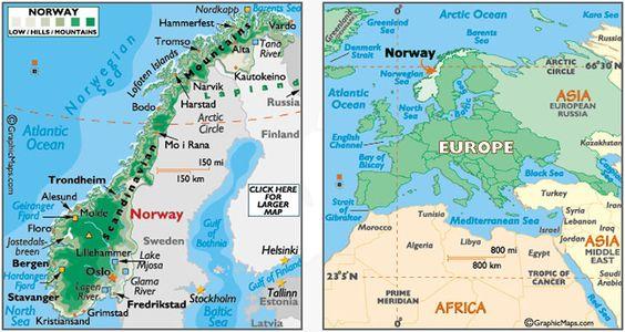 Image From HttpgardkarlsencomtromsoNorwaymapjpg TRAVEL - Norway map tromso
