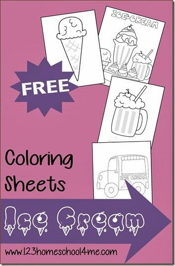 FREE Summer Ice Cream Coloring Sheets for Kids #preschool #toddler #coloringsheets
