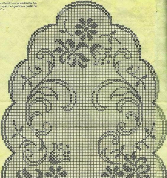Several oval tablecloth | Kira scheme crochet