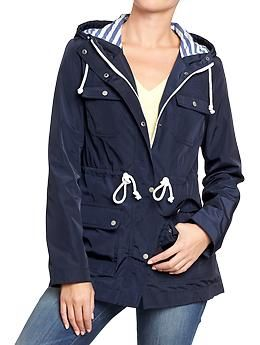 Womens Hooded Jersey-Lined Raincoats... LOVE LOe love it ...