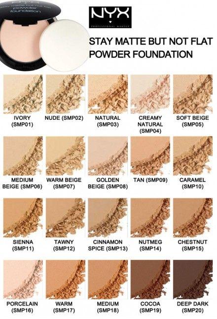nyx stay matte powder foundation swatches