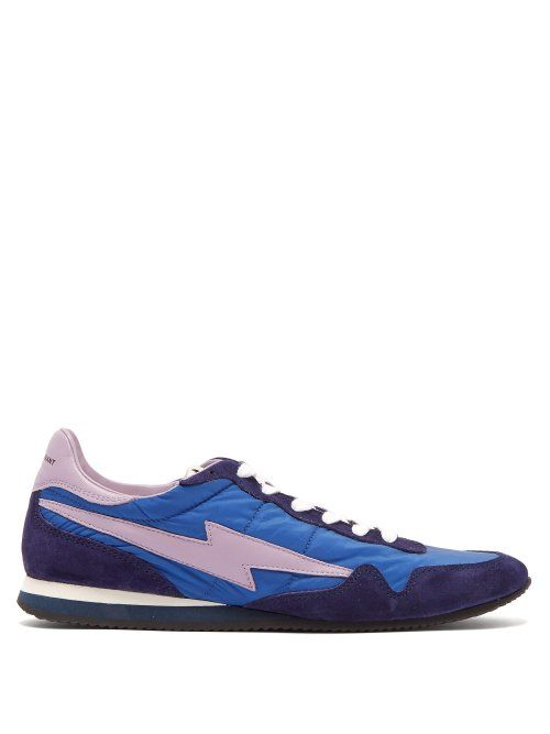 blue leather trainers womens