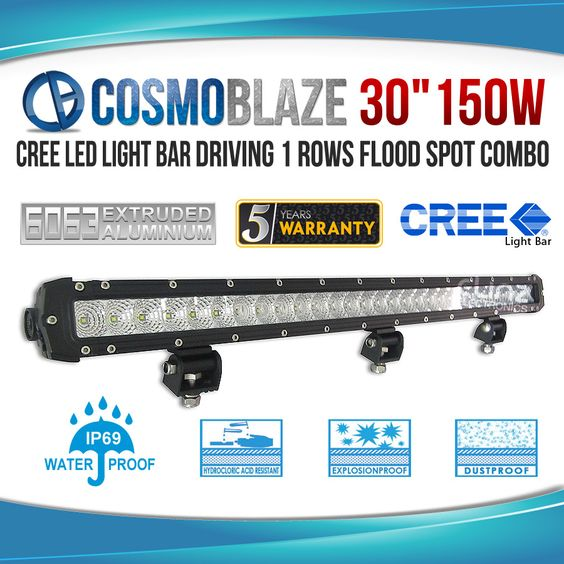 Cosmoblaze Offers Affordable 150W Sinlge Row Series CREE LED Light Bar