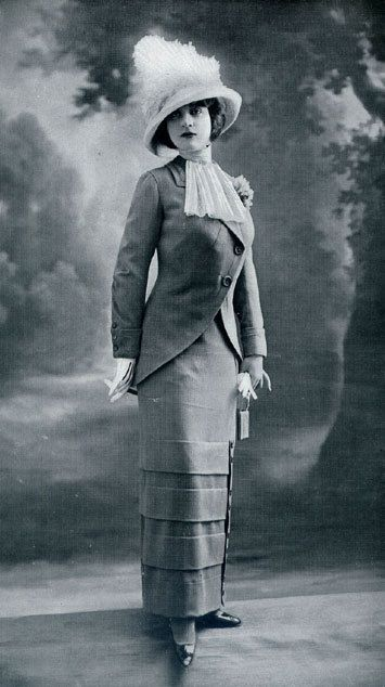 Shorten that skirt and its high fashion work wear 2013!  Fashion for Women, 1912