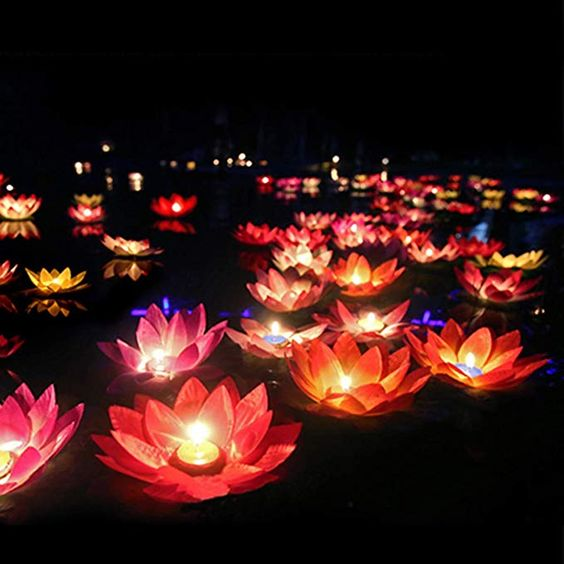 Amazon.com: LEDMOMO Floating Lotus Lights Wishing Water Lily Candles Light Decorative Floating Candles Lantern for Pool Festival Night (Random Color,15Pcs): Home Improvement
