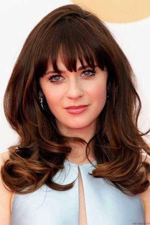 Thick Brunette Hair With Bangs Thick Hair Styles Thick Wavy Hair Hot Hair Styles