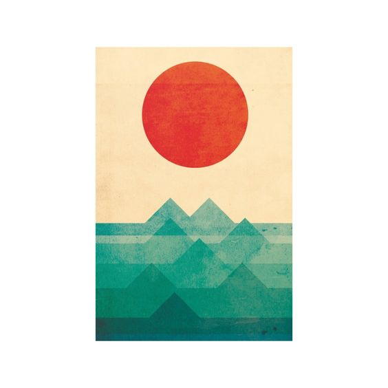 Sunrise, sunset. Welcome the turning of each day with this charming Over the Ocean Canvas Print. A minimalist modern design, this gorgeous piece features a fiery red sun descending on a choppy turquois...  Find the Over the Ocean Canvas Print, as seen in the Art Collection at http://dotandbo.com/category/decor-and-pillows/for-the-wall/art?utm_source=pinterest&utm_medium=organic&db_sku=121720