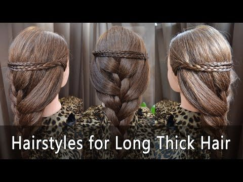 » Hairstyle for Long Thick Hair « | Frisuren für lange dicke Haare - YouTube