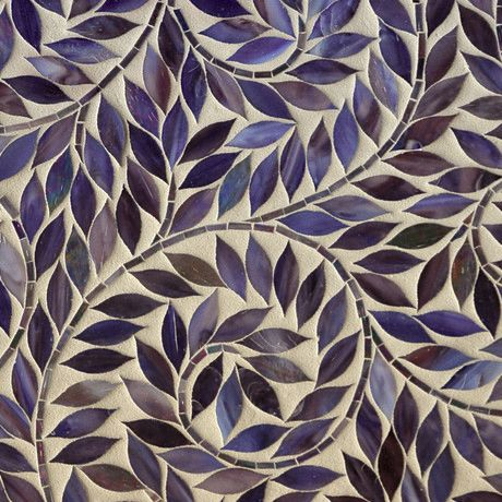 Mosaic Back-splash, so love the movement and color of this! Would look just as gorgeous on a planter.