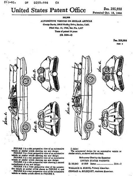 lincoln futura patent