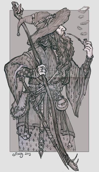 boceto de Gandalf, Olga Levina
