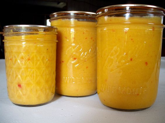 Hot Pepper Mustard~Mom and I made 15 1/2 pints!  New favorite condiment!