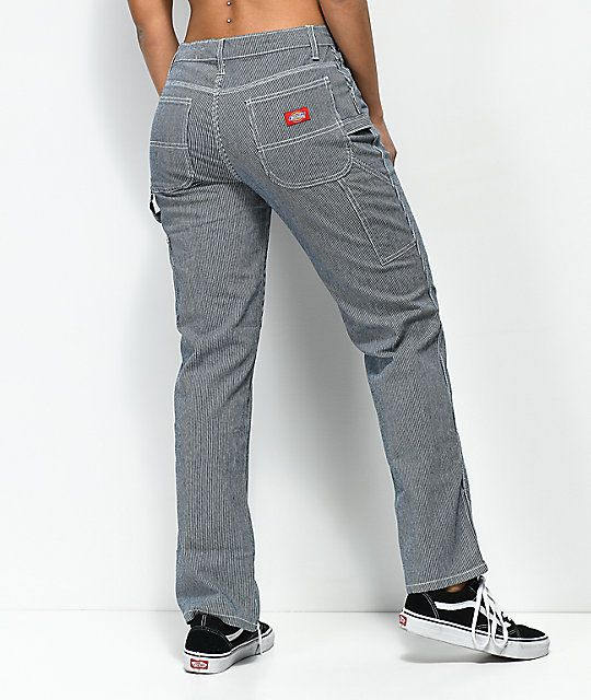 Dickies Navy White Stripe Carpenter Pants Stripe Pants Outfit